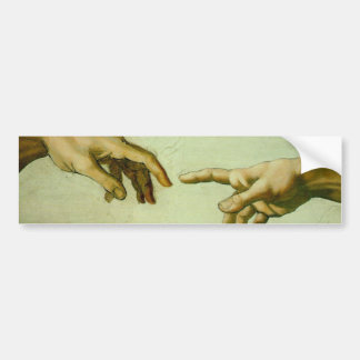 La creación de da Vinci de Adán Pegatina Para Auto