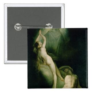 La creación de Eve, 1791-93 Pin Cuadrado