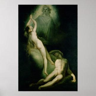 La creación de Eve, 1791-93 Póster