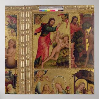 La creación de Eve, un panel de Grabower Póster