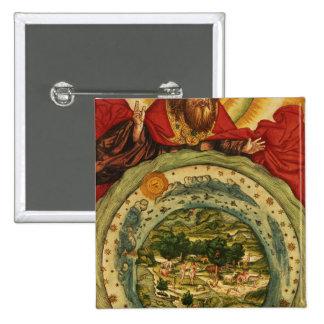 La creación, de la biblia de Luther, c.1530 Pin Cuadrado
