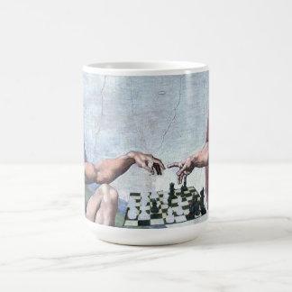 La creación del ajedrez tazas de café