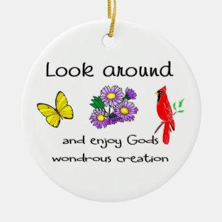 La creación maravillosa de dios ornamentos de navidad
