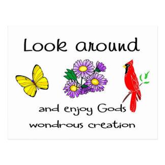 La creación maravillosa de dios tarjeta postal