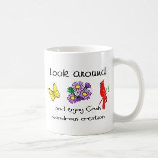 La creación maravillosa de dios taza básica blanca