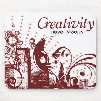 La creatividad nunca duerme tapetes de raton