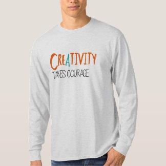 La creatividad toma valor crea para requisitos poleras