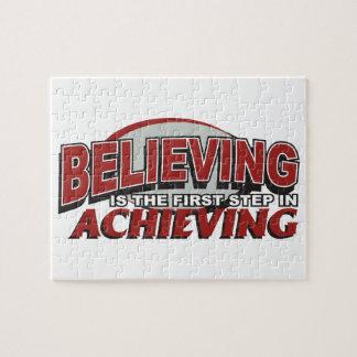 La creencia es el primer paso rompecabezas