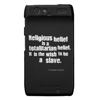 La creencia religiosa es una creencia totalitaria motorola droid RAZR funda