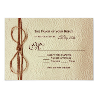La crema rústica del vintage florece casando las invitación 8,9 x 12,7 cm