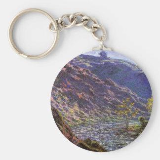 La Creuse menuda, luz del sol de Monet, bella arte Llavero Redondo Tipo Chapa
