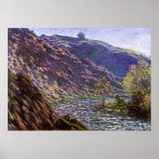 La Creuse menuda, luz del sol de Monet, bella arte Póster