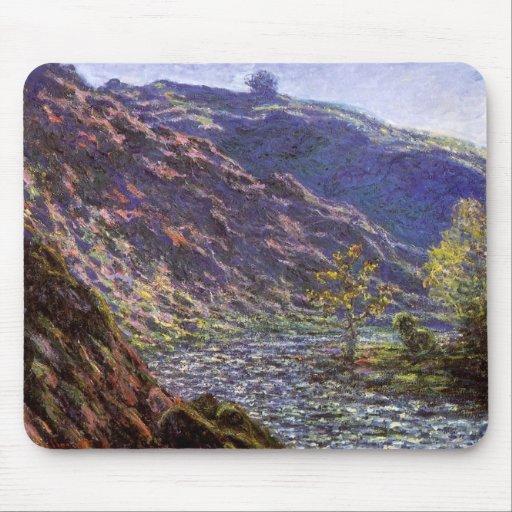 La Creuse menuda, luz del sol de Monet, bella arte Alfombrilla De Ratones