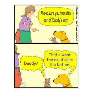la criada 132 llama el dibujo animado del tarjeta postal