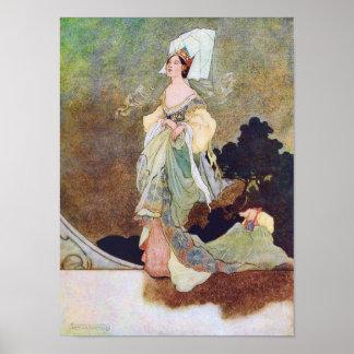 La criada de la reina del poster del cuento de had