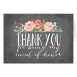 La criada del honor le agradece dama de honor del tarjeta pequeña