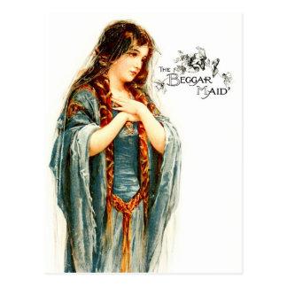 La criada hermosa del mendigo tarjeta postal