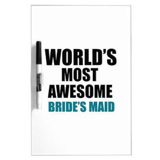 La criada más deseada de la novia del mundo tableros blancos