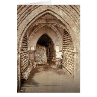 La cripta de la iglesia, Hythe, Inglaterra Photoch Tarjeton