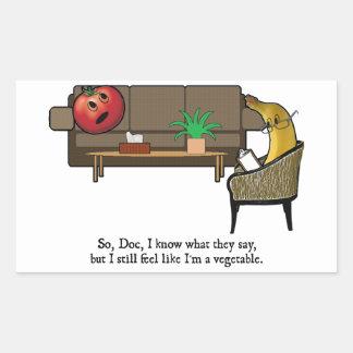 La crisis de identidad, tomate considera al pegatina rectangular
