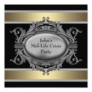 La crisis negra de la media vida sirve a la 40.a invitación 13,3 cm x 13,3cm