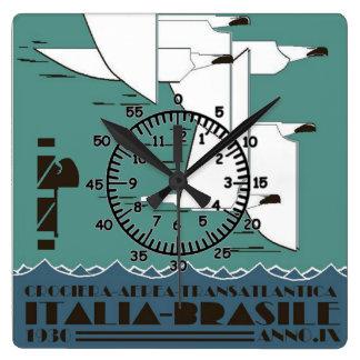 La Crociera Aerea Transatlantica Square Wall Clocks