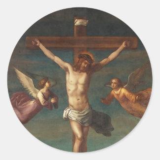 La Crocifissione by Joseph Ernst Tunner Classic Round Sticker