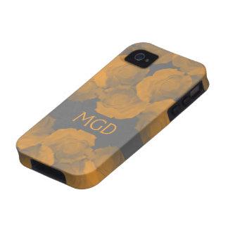 La croma lamentable y elegante del melocotón subió vibe iPhone 4 funda