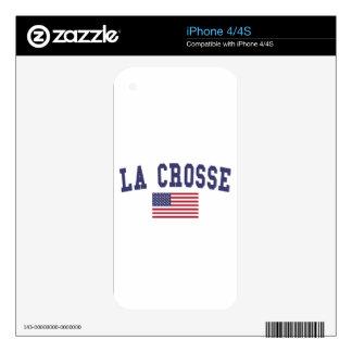 La Crosse US Flag iPhone 4S Skin
