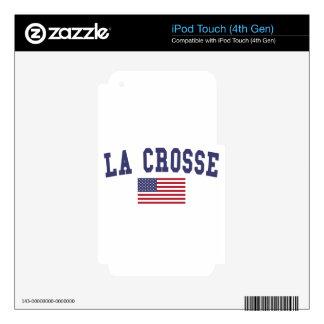 La Crosse US Flag iPod Touch 4G Decal