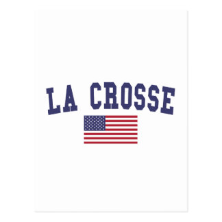 La Crosse US Flag Postcard