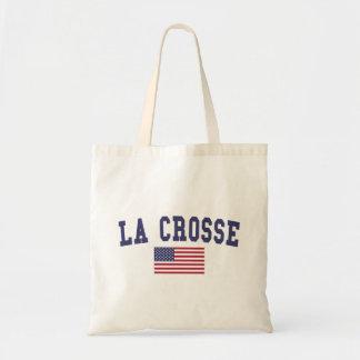 La Crosse US Flag Tote Bag