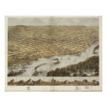 La Crosse WI 1867 Antique Panoramic Map Poster