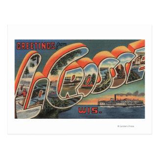 La Crosse Wisconsin - Large Letter Scenes Postcard