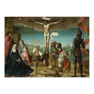 La crucifixión by Juan de Flandes Card