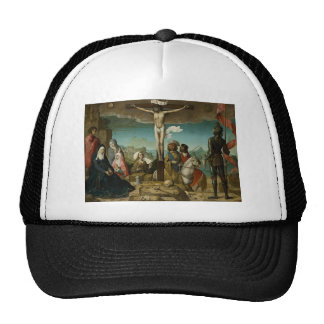 La crucifixión by Juan de Flandes Trucker Hat