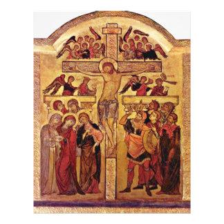La crucifixión de Cristo de Westfälischer Meister Tarjetas Publicitarias