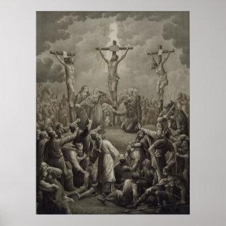 La crucifixión de Cristo muere Kreuzigung Jesu Póster