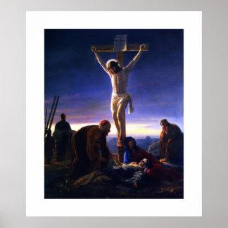 La crucifixión de Jesús de Carl Bloch. Poster