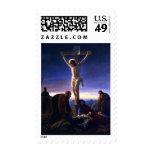 La crucifixión de Jesús. Sellos de la bella arte