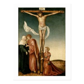 La crucifixión el panel postal