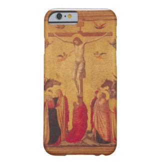 La crucifixión (tempera en el panel) funda de iPhone 6 barely there