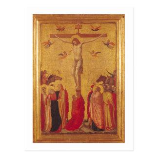 La crucifixión (tempera en el panel) postal