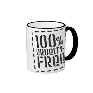 La crueldad 100% libera taza de café