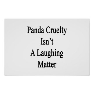 La crueldad de la panda no es un tema baladí póster