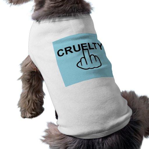 La crueldad de la ropa del perro es cruel camisas de mascota