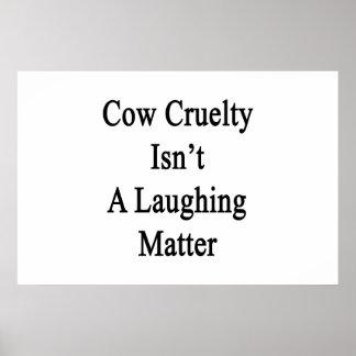 La crueldad de la vaca no es un tema baladí póster