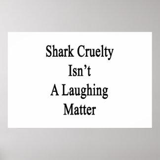 La crueldad del tiburón no es un tema baladí póster