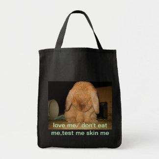 la crueldad libera bolsa tela para la compra