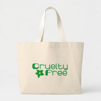 La crueldad libera diseño floral bolsa tela grande